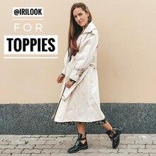 Осеннее пальто для женщин Doble однобортное длинное пальто в Корейском стиле Женская ветровка с отворотом пальто