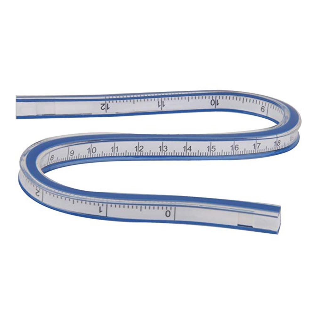 Flexible Curve Ruler Helix Drafting Drawing Measure Tool Soft Plastic Tape Measure Ruler 30cm
