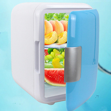 Двойное использование 4L домашнего использования автомобиля холодильники Ультра тихий низкий уровень шума автомобиля мини-Холодильники Морозильник охлаждение, отопление коробка холодильник