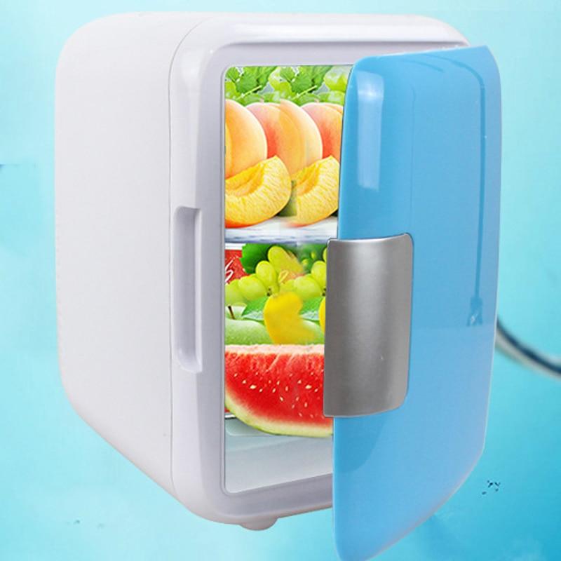 Dual-Use 4L Home Car Use Refrigerators Ultra Quiet Low Noise Car Mini Refrigerators Freezer Cooling Heating Box Fridge  Cool