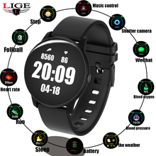 LIGE Men and Women Smart watch Fitness Smartwatch Blood Pressure Heart Rate Monitor Pedometer Smart Watch Men For Android iOS все цены