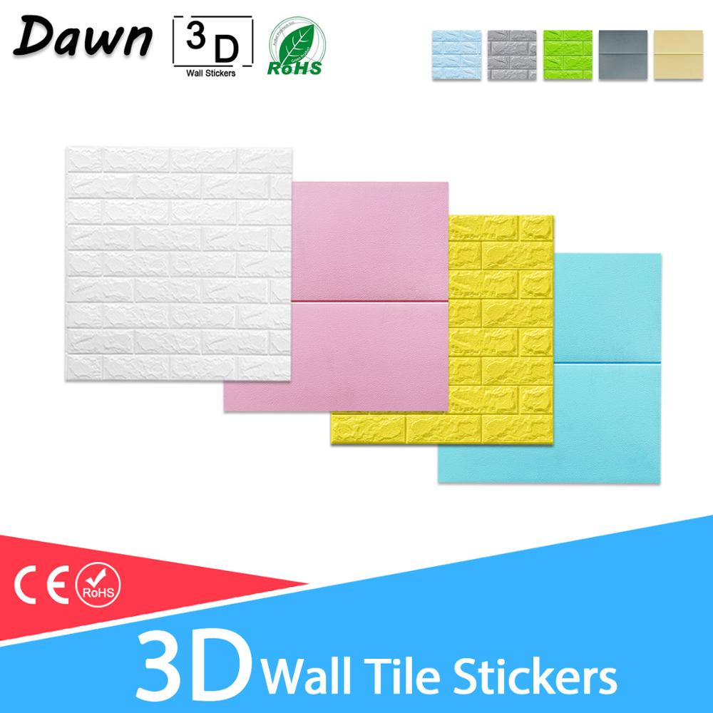 3D Wall Stickers Wall Papers For Kids Room Living Room Wall Sticker Marble Self-adhesive DIY Floral Prints 3D Brick Waterproof