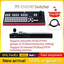 TY 1500HD לוח בקרה של Vmix וידאו מיקסר הקלטת ציוד וידאו Switcher עבור חדש Media Live Youtube תוספות טלוויזיה PK Livepro 1atem