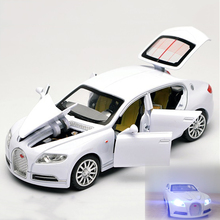 1/32 Bugatti Veyron 16C Galibier Diecast Metal Model Cars Alloy Electronic Car Toys Halloween Gift