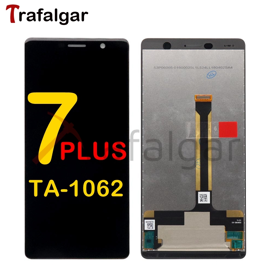 For Nokia 7 Plus LCD Display Touch Screen Digitizer TA 1062 LCD 