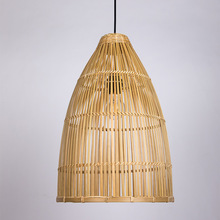 Southeast Asia Bamboo Knitted Chandelier Handmade Creative Personality Dining Room Balcony Tea House Hotel Lanterns