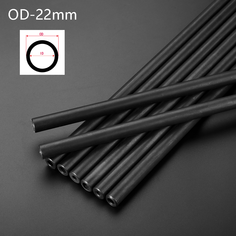 O/D 22mm Seamless Steel Pipe Explosion-proof Hydraulic Boiler  Steel Tube Seamless For Home DIY Pipeprint Black