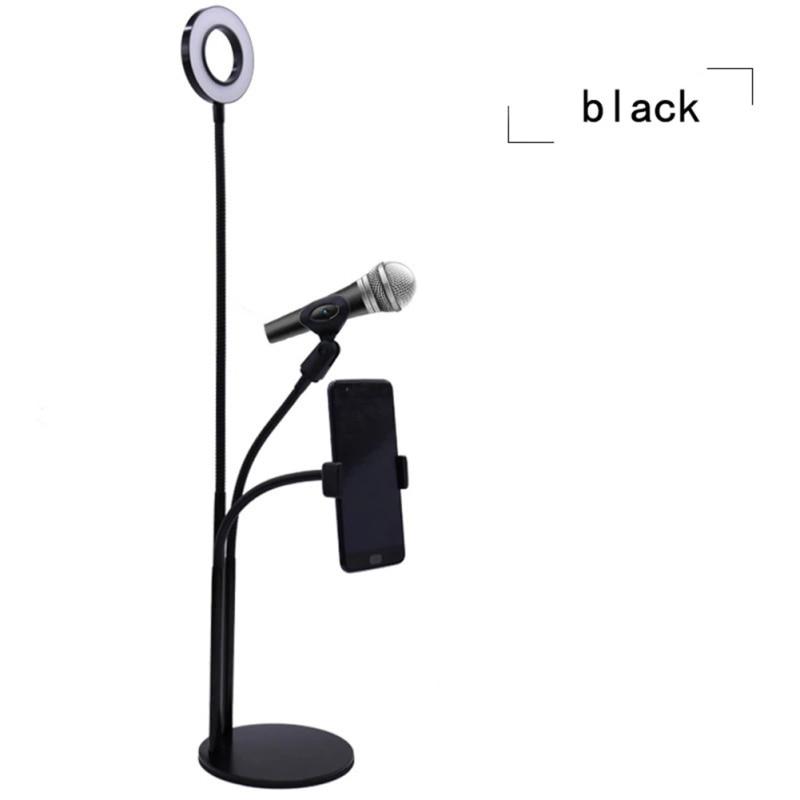 11 support de téléphone de bureau réglable souple Selfie anneau lumière Long bras téléphone portable Clip support paresseux support bureau lampe à LED