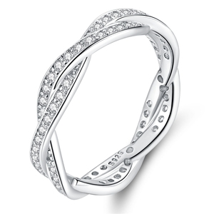 Image 5 - bamoer Trendy Classic Silver Ring Minimalist Simple Love Forever Heart Circle Ring Female Fine Jewelry Original Design GO7223