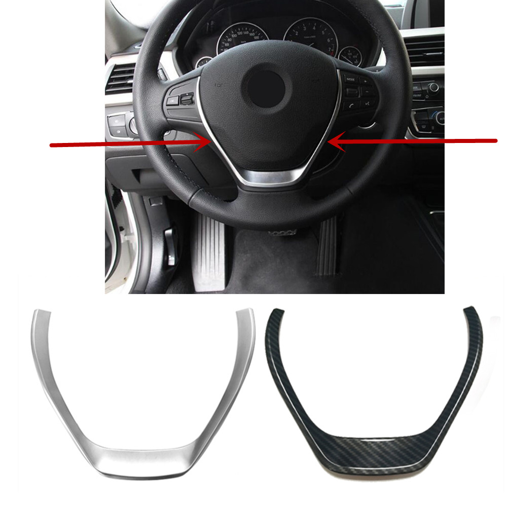 ABS Chrome Steering Wheel Button Decorative Trim frame Cover <font><b>Sticker</b></font> Interior for BMW 1 3 Series <font><b>F20</b></font> F30 F34 3GT 320i 328i 118i image