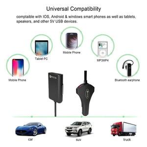 Image 5 - المقعد الخلفي 4 منفذ USB سريع الشحن 3.0 سيارة الجبهة المحمولة شاحن آيفون هواوي 60 واط 12A quadra ميناء USB سريع شاحن الهاتف