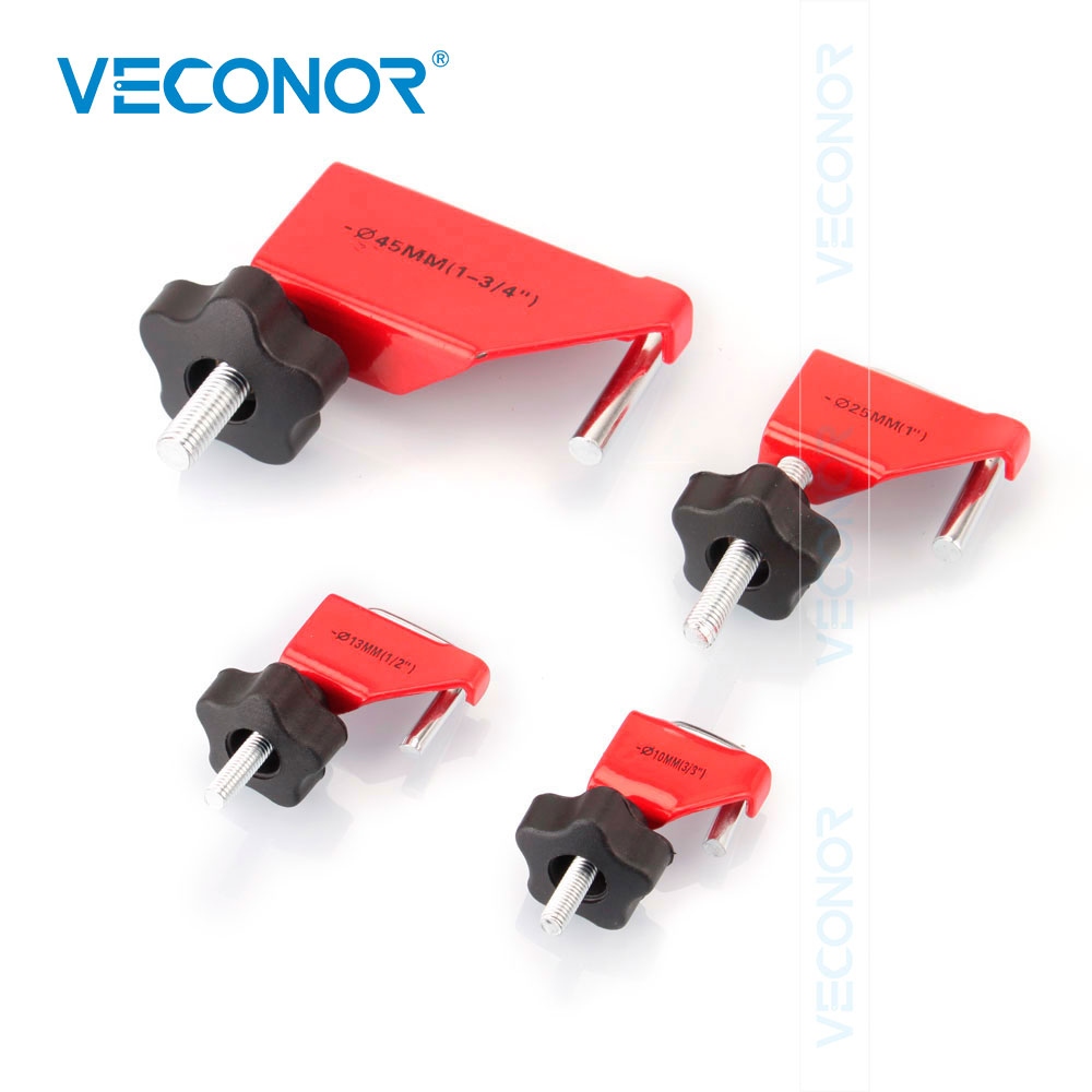 VECONOR 4PCS U Shape Fluid Line Clamper Tool Kit Fuel Vacuum Transmission Brake Heater Hose Lines Pinch Squeeze Clamp Tools Set
