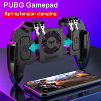 Pubg controlador Botón de fuego disparar juego controlador Pubg Gamepad móvil Joysticks para iPhone X Xiaomi móvil Android juego Joypad