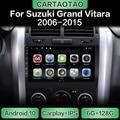 Автомагнитола на Android 10 с GPS-навигацией, Wi-Fi, мультимедийный плеер CarPlay для Suzuki Grand Vitara 3 2006-2015, DSP RDS IPS, без DVD, 2din