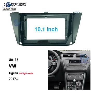 2 Din 10.1 inch car radio Fascias for VW TIGUAN 2017 Dashboard Frame Installation dvd gps mp5 android Multimedia player image