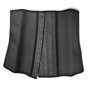Image 5 - נשים Shapewear נוסף חזק לטקס מותניים מאמן אימון שעון חול חגורת מותן Cincher גוזם ארוך טורסו Fajas 9 פלדת עצם