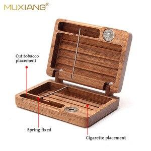 Черный орех, чехол для сигарет, Деревянный винтажный держатель для табачной коробки, защитный чехол, чехол для сигарет, аксессуары для курен...