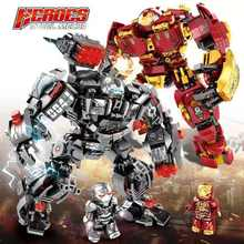 650Pcs Marvel City Avengers Endgame Iron Man Armor Hulkbuster Mech Figures Compatible Legoed Technic Building Blocks Bricks Toys(China)