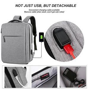Image 3 - Cartinoe USB Charging 17.3/15.6 Inch Laptop Bag For Macbook Air/Pro Anti Theft Laptop Backpack Men Travel Bag Male Mochila Bag