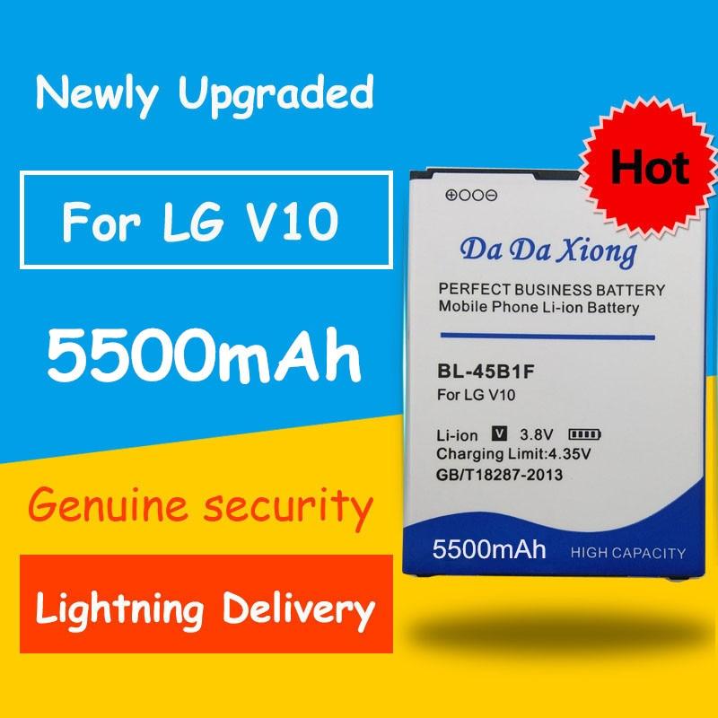 Free Shipping 5500mAh BL-45B1F BL45B1F Battery For LG V10 H961N F600 H900 H901 VS990 H968 H960 V10 K520 Replacement Batteries