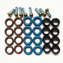 8sets kraftstoff injektor reparatur kit für Chevrolet Opel Einspritzventil Daewoo Echtem Düse 96334808 25332290 freies schiff
