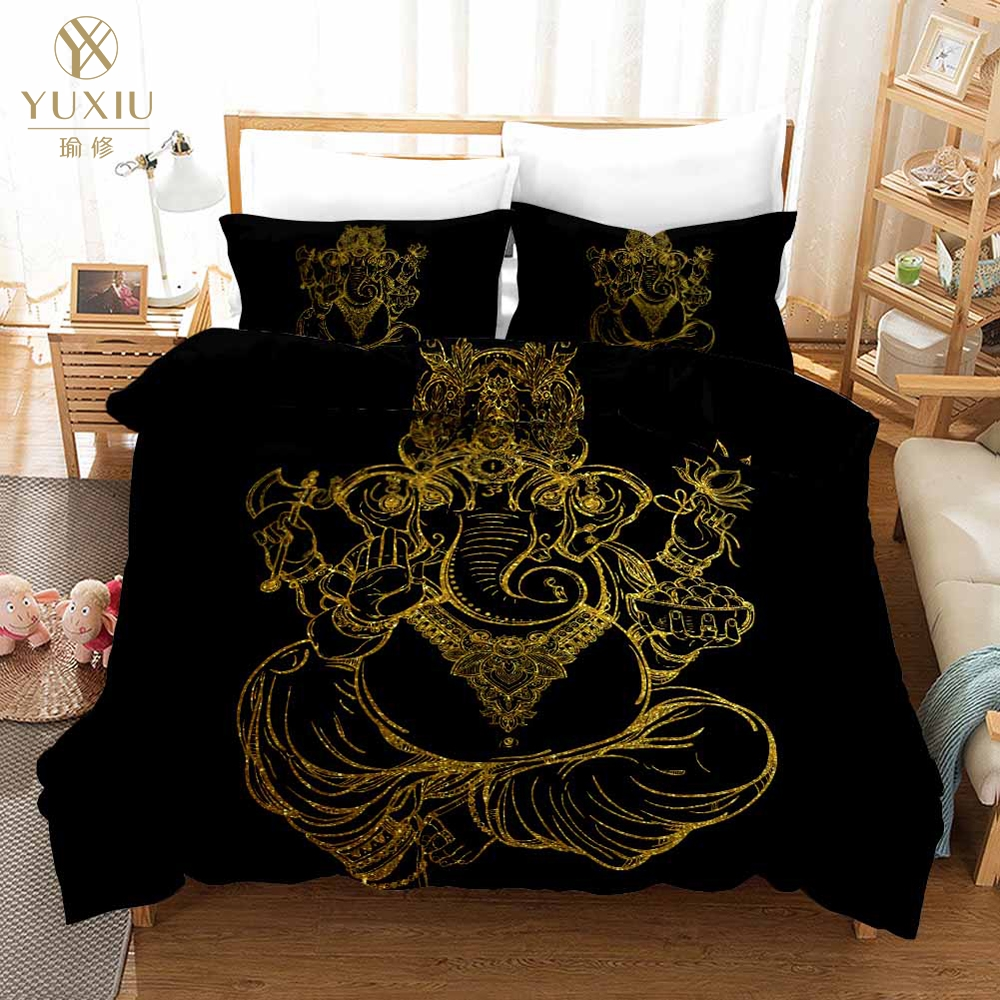 luxury bedding set 3d black gold scorpion king queen meteor scorpio duvet cover constellation bed sets bohemian bedclothes