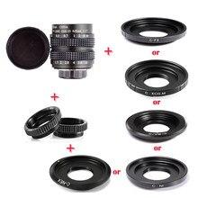 Fujian lente + anel adaptador, 35mm f/1.7 APS-C cctv + anel macro anel para nex fx m4/3 nikon1 eosm câmera mirroless