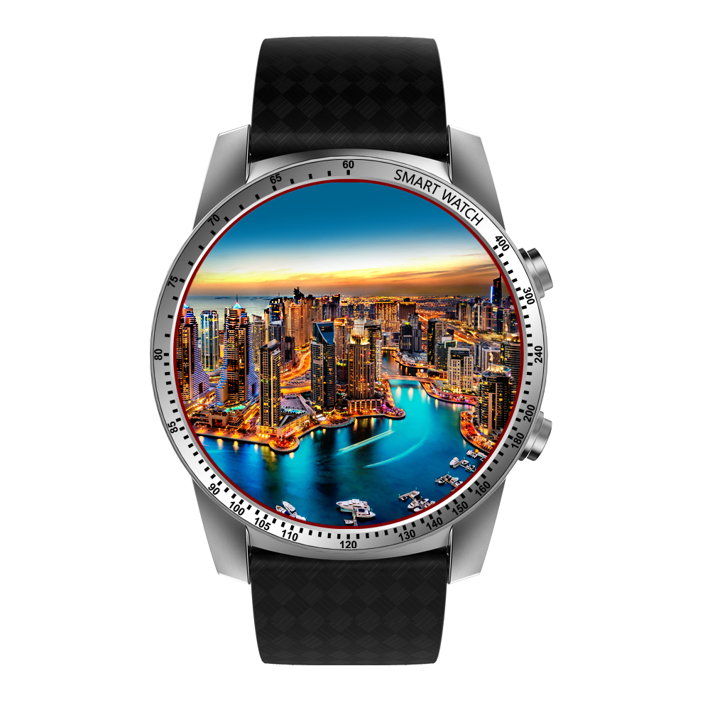 Купить с кэшбэком KingWear KW99 PRO Smartwatch Phone Android 7.0 Men Watch MTK6580 Quad Core 16GB ROM Heart Rate Monitor 3G GPS Pedometer Business