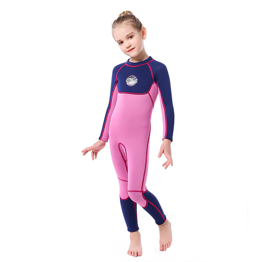 Children Diving Suit Female 3MM One-Piece Long-Sleeve Swimsuit Warm Surf Jellyfish Clothes Diving Suit