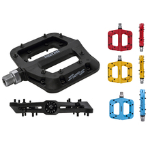 1 Pair MTB Bicycle Nylon Pedals Cycle Ultralight Cycling Bike Pedal Accessory Anti-skid Foot Bearing Bearing 9/16 Axis Pedal 1 pair bicycle cycling pedal straps belts fix bands tape generic for most schwinn