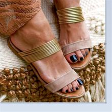 Fashion Bohemian Women Sandals Ladies Summer Shoes Fruity Sandals Flat Sandals Sandalias Summer Shoes  Zapatos De Mujer