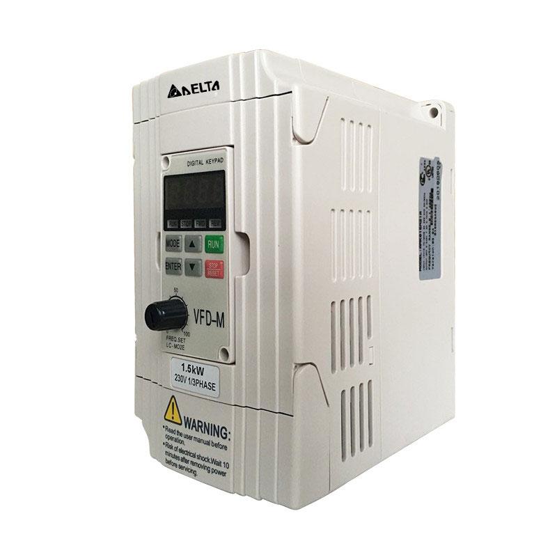 New original Delta VFD-M series ultra low noise mini VFD015M21A 1.5kw 220V inverter