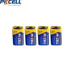 Image 1 - PKCELL batería Extra resistente de carbono de Zinc, 9 V, 6F22, igual a CR9V, ER9V, 6LR61, para termo electrónico, 4 Uds.