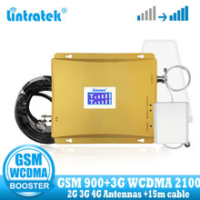 Lintratek GSM 900 2100 Cellular Signal Booster 900mhz 3G UMTS 2100mhz Amplifier Dual Band Extender Repeater Set