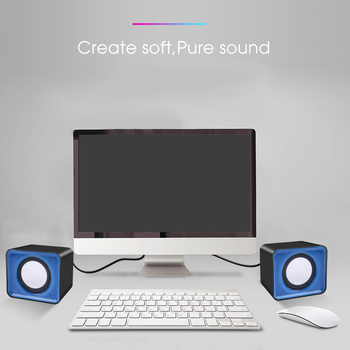 kebidu Universal USB 2.0 Music Speaker Mini Music Stereo Speakers 3.5mm Pulg For Multimedia Desktop Computer Notebook 2