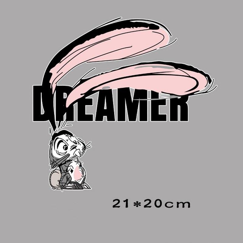 21x20 см с изображениями героев мультфильмов (кролик) гладить на патчи для теплопередачей DIY Одежда Футболка Термальность переводные наклейки...