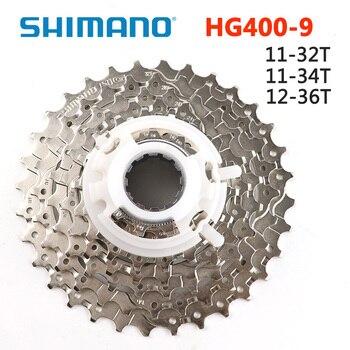 SHIMANO CS HG400 9 מהירות הרי אופני קלטת Freewheel 11-32T 11-34T 12-36T CS-HG400-9 MTB הר 9 מהירות אופניים Freewheel