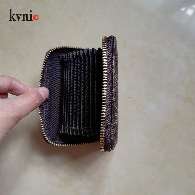 2020 Vintage Stripe Multi-card Wallet For Men And Women Coin Card Slot Case Plaid Simple 9 Card Holder Package New