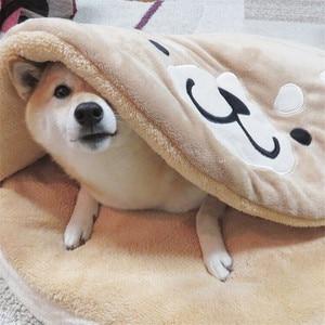 Śliczne Dorayaki łóżko dla zwierząt cztery pory roku ogólne hodowla shiba inu mata do budy krótki pluszowy kot pies karimata wygodne gniazdo dla zwierząt domowych