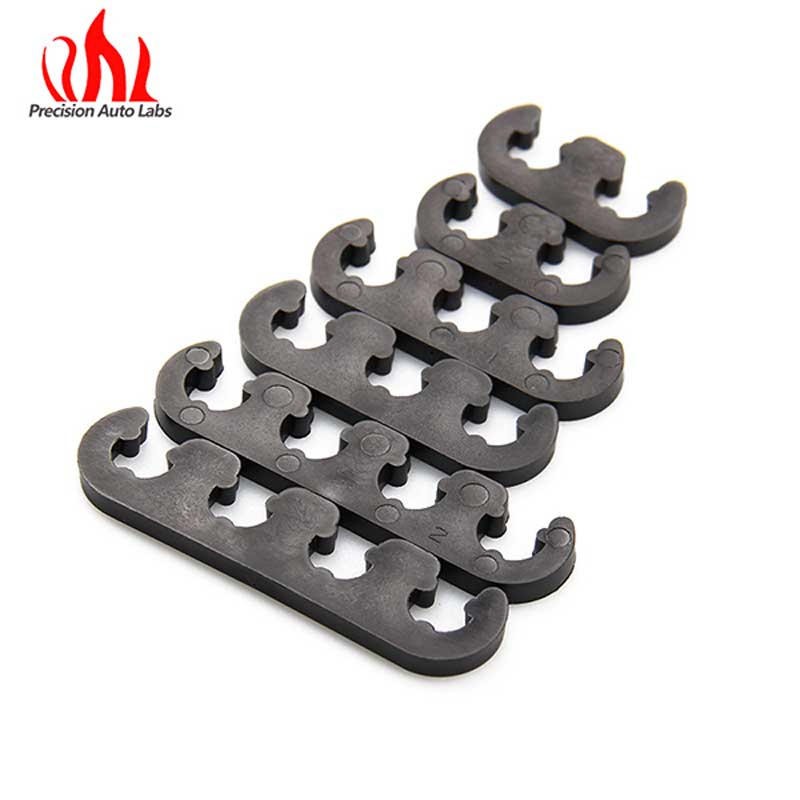 PRECISION AUTO LABS 7mm And 8mm 6 Piece 9728 Black   Spark Plug  Wires Separators Separator Divider Kit