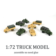 1 72 4D Hummer Missiles Lightning Truck Free Glue Assemble Model Military Children Toy Boy Gift cheap Plastic Need to assemble Vehicle Trucks 8 years old Unisex
