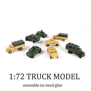 1 72 4D Hummer pociski błyskawica ciężarówka bezpłatny klej złożyć Model wojskowy zabawka dla dzieci chłopiec prezent tanie i dobre opinie Z tworzywa sztucznego Need to assemble 1 72 Pojazdu Ciężarówki 8 lat Hummer Missiles Unisex assemble model
