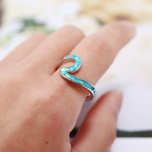 Jewelry waves to ring fashion Wave Ring for women alloy rings dance party couple engagement jewelry accessories