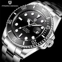 Pagani design topo marca relógios masculinos mergulho automático relógio mecânico aço à prova dwaterproof água negócios esporte relógio de pulso para homem relogio