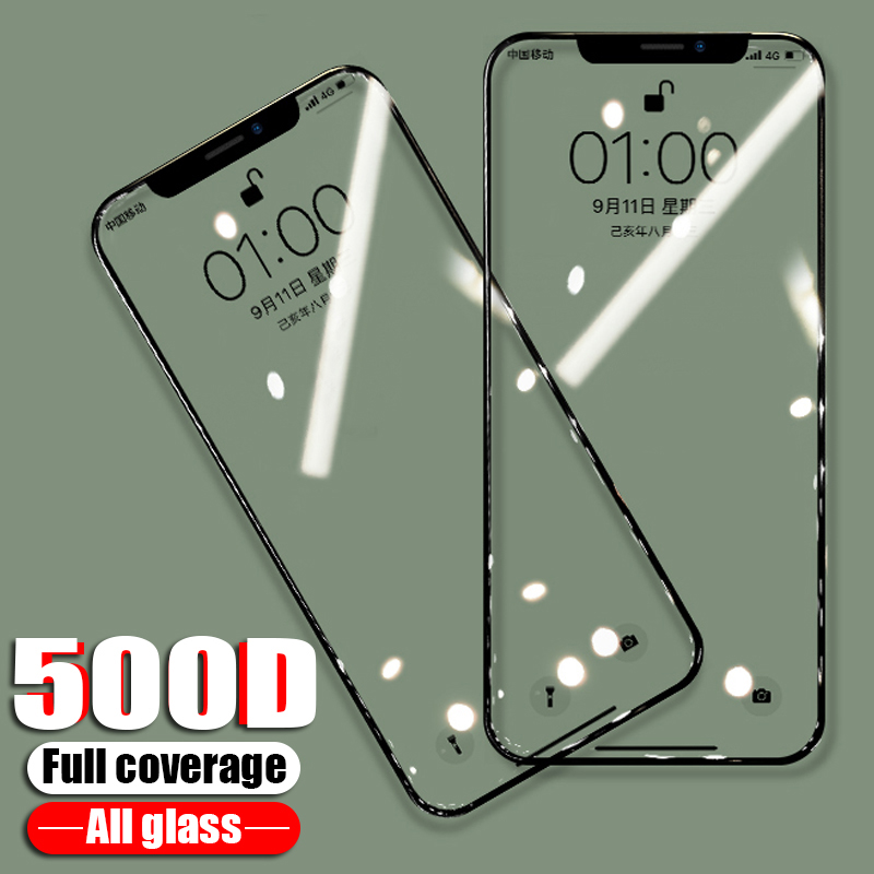 500D Protective Glass On The For IPhone 11 Pro X XS Max XR Screen Protector Film For IPhone 7 6 8 Plus 6s X XS Tempered Glass