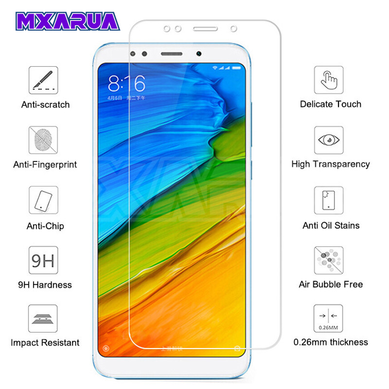9H Tempered Glass On The For Xiaomi Redmi 5 Plus 5A 4 4X 4A S2 Go K20 Screen Protector Redmi Note 4 4X 5 5A Pro Protective Film