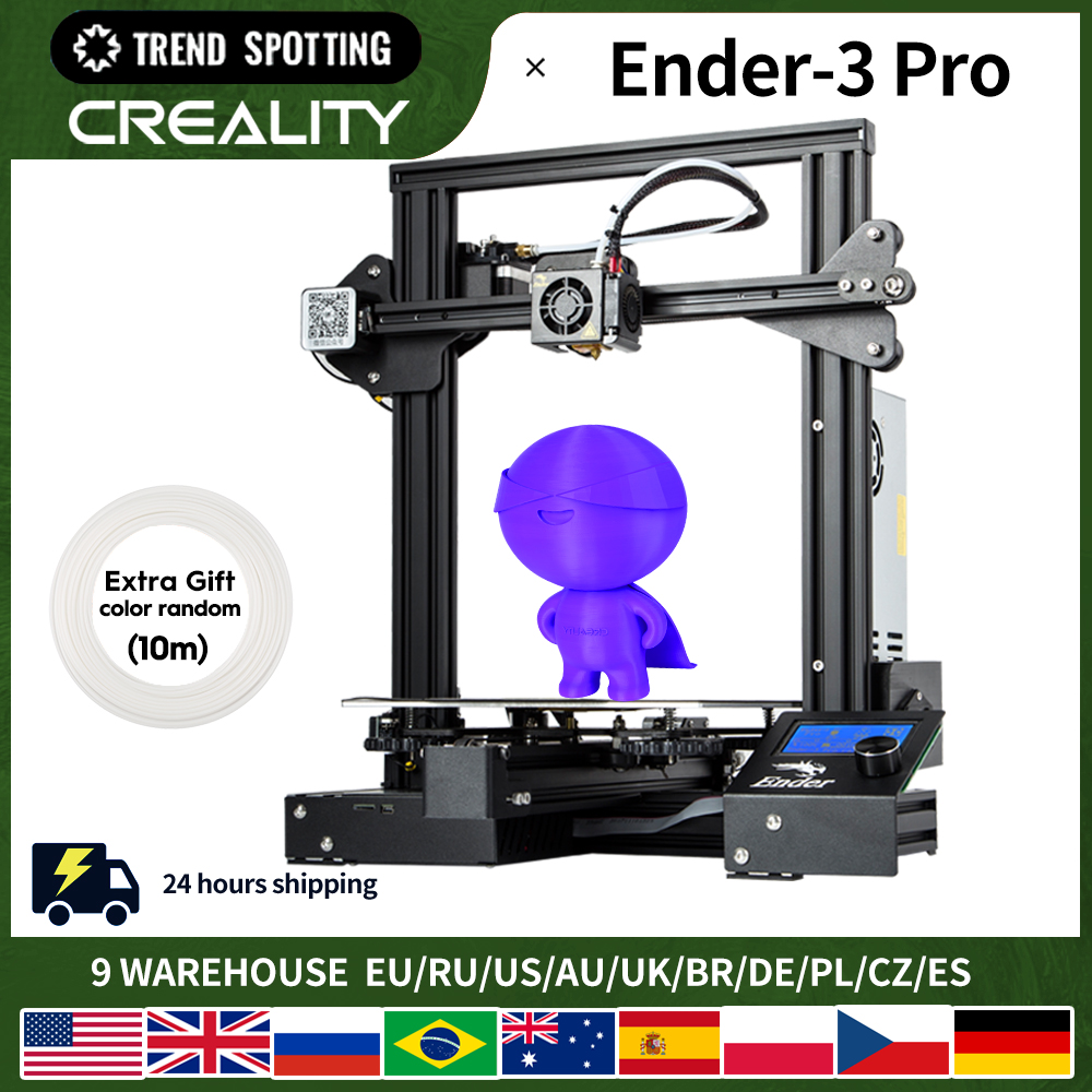 CREALITY 3D Ender-3 פרו מדפסת הדפסת מסכות מגנטי לבנות צלחת לחדש הפסקת חשמל הדפסה DIY ערכת מתכוון גם אספקת חשמל