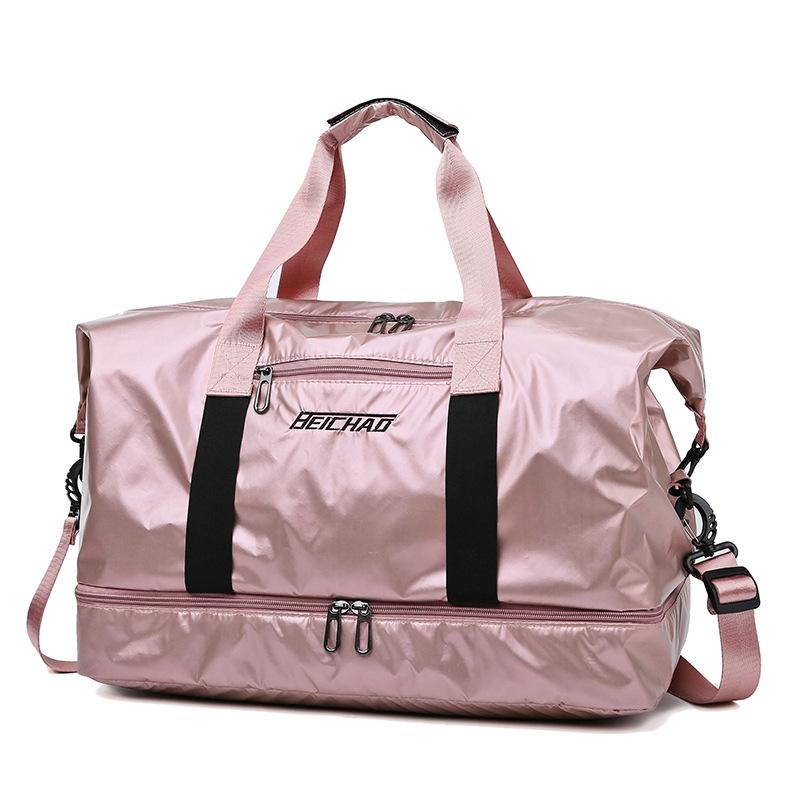 Gym Bag Pearlescent Women Fitness Training Handbag With Shoes Pocket Waterproof Yoga Pack Travel Duffel Balso Sac De Sporttas