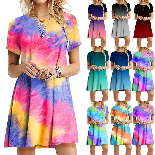 2021 Summer Women Dress Printed Sling Ladies Bohemian Loose Chiffon Dresses A-Line Beach Dress Plus Size S-5XL Dresses Women 1