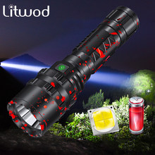 Litwod 80000 Lumens Flashlight LED light powerful Hunting light Tactical Rechargeable Waterproof Scout Torch 5 Modes 18650/26650(China)